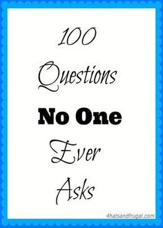 This 100 Questions No One Ever Asks video tag is hilarious and fun. Try it out!