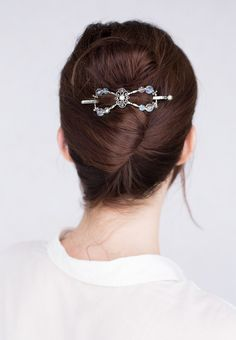 Wedding hairstyles and accessories. Beautiful french twist styled with a Crystal Tiara flexi clip. She glows in Lilla Rose! Braided Half Up, Braided Ponytail, Bridesmaids And Mother Of The Bride, Special Occasion Hairstyles, Loose Braids, French Twist Hair, Ethnic Hairstyles, Rose Hair, Hair Sticks