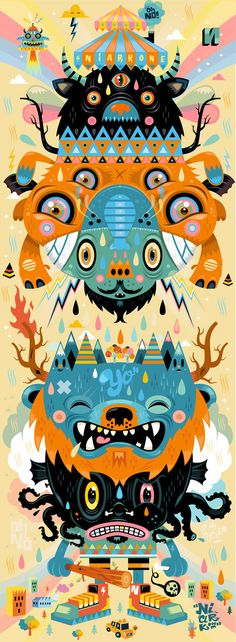 Illustration #8 ( special symmetry ) by Seb NIARK1 FERAUT, via Behance