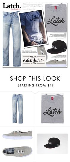 """Script Tee!"" by latch-apparel-co ❤ liked on Polyvore featuring Helix and Vans"