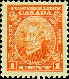 Canada  Stamp 2015 -  Sir John MacDonald 1 cent