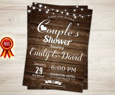 Hey, I found this really awesome Etsy listing at https://www.etsy.com/listing/261153700/rustic-couples-shower-invitation-couples