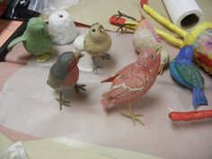 vintage paper mache birds | by sukey2