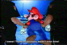 Mario Gets Arrested - http://2nerd.com/video-games-2/mario-arrested/