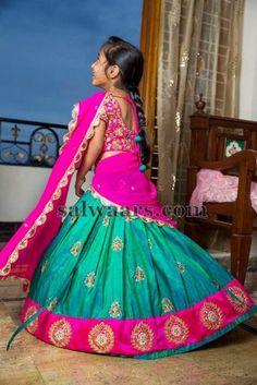Baby in Pure Silk Half Saree