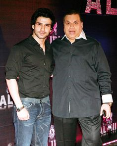 Girish with his father Kumar Taurani at Sridevi's grand 50th birthday bash. #Bollywood #Style #Fashion