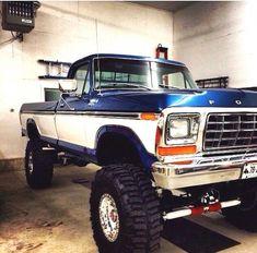Big Ford Trucks, 1979 Ford Truck, Classic Ford Trucks, Ford 4x4, Gmc Trucks, Car Ford, Diesel Trucks, Lifted Trucks, Cool Trucks