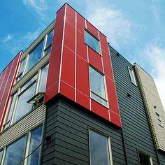 Hardie Board Siding, Wood Siding, Exterior Siding, Modern Exterior, Exterior Design, Fiber Cement Siding, James Hardie, Weathering Steel, New Homes