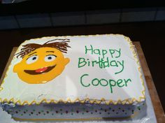 Walter from the Muppets birthday cake for the boy's 4th birthday