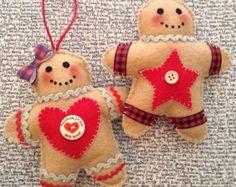Gingerbread Ornaments / Christmas Gingerbread Felt di CraftsbyBeba