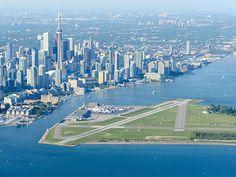 O Billy Bishop Toronto City Airport, aeroporto no Canadá (Foto: PrivateFly/Divulgação)