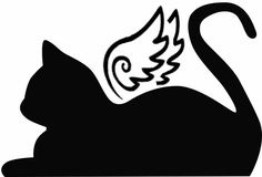 Here you find the best free Cat Angel Silhouette collection. You can use these free Cat Angel Silhouette for your websites, documents or presentations. I Love Cats, Crazy Cats, Cute Cats, Gato Angel, Angel Silhouette, Pet Sympathy Cards, Black Cat Tattoos, Pet Remembrance, Cat Memorial