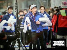 Running man filming