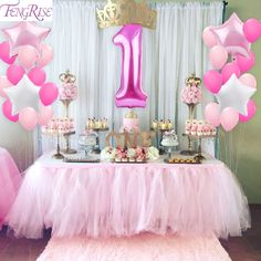 Online Shop QIFU My First Birthday Air Number Foil Balloons Air Baby Shower Boy Girl Birthday Party Decorations Kids Party Balloons Kit Princess Theme Birthday, 1st Birthday Party For Girls, 1st Birthday Party Supplies, 1st Birthday Party Decorations, Diy Birthday, Birthday Ideas, Pink Princess Party, Cake Birthday, Birthday Gifts