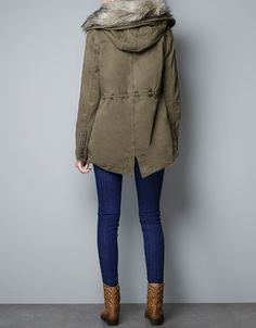PARKA WITH DETACHABLE - Coats - Woman - ZARA United States