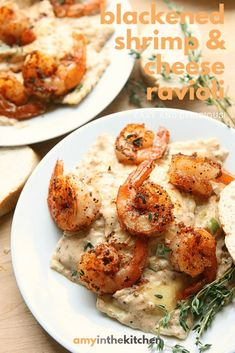 Shrimp and cheese ravioli. Have dinner on the table in less than 30 minutes with this delicious recipe for Shrimp and Cheese Ravioli Seafood Recipes, Cooking Recipes, Healthy Recipes, Pasta Recipes, Crawfish Recipes, Kitchen Recipes, Lunch Recipes, Yummy Recipes, I Love Food