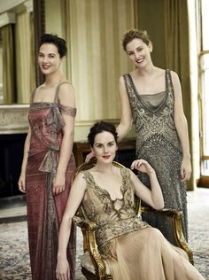 Downton Abbey:   Jessica Brown Findlay,   Michelle Dockery,   Laura Carmichael