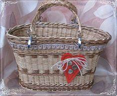 Поделка изделие Плетение Наконец-то у меня сумка Кружево Пуговицы Ткань Трубочки бумажные фото 2