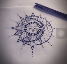 Bonus: Moon & Sun - 31 of the Prettiest Mandala Tattoos on Pinterest - Photos