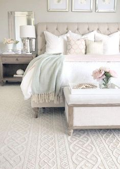 bedroom decor for couples \ bedroom decor ; bedroom decor for couples ; bedroom decor for small rooms ; bedroom decor ideas for women ; bedroom decor ideas for couples Romantic Bedroom Decor, Home Decor Bedroom, Modern Bedroom, Bedroom Rustic, Bedroom Black, Bedroom Themes, Master Bedroom Furniture Ideas, Neutral Bedrooms, Bedroom Green