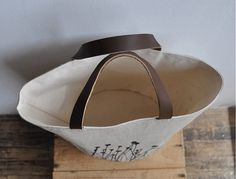 BUCKET TOTE  field by bookhouathome on Etsy, $50.00