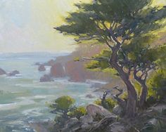 Sunlit Shores by Bill Cramer Oil ~ 16 x 20