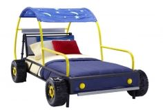 Get your child ready to drive off into dreamland on the Dune Buggy Car Twin Bed. This fun twin size bed is the perfect centerpiece to your race car loving child& bedroom. the Metal shaped bed is reminiscent of a dune buggy and features realistic .
