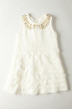Sequin Collar Multi Frill A-Line Dress