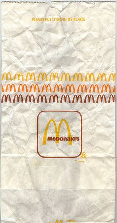 McDonald's bag (how it looked in 80s)