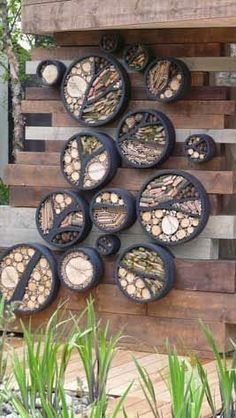 Beneficial Insect Habitat: If this could be done with old tires, it would be amazing.