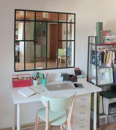 miroir style atelier artiste verriere industrielle decoration loft maison chic meubles. Black Bedroom Furniture Sets. Home Design Ideas