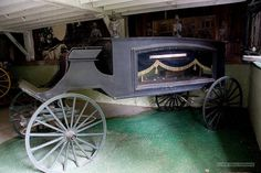 Old Carriage Hearse,  Inside Museum,    Rome, NY