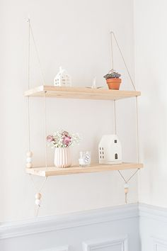 DIY Hanging Shelves Tutorial