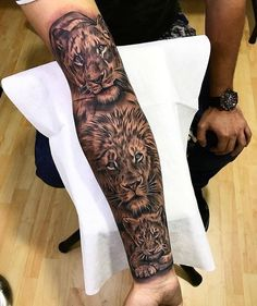 "17.2k Likes, 161 Comments - TattoosForMen ⭕ (@tattoosformen_) on Instagram: ""Awesome Lions forearm tattoo Artist IG: @camilocolmenares _________ ▶DM FOR SHOUTOUTS◀ FOLLOW…"""