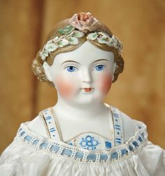 Very Rare German Bisque Lady with Uniquely Sculpted Hair Wreath and Bodice 1100/1500   Art, Antiques & Collectibles Toys & Hobbies Dolls   Auctions Online   Proxibid