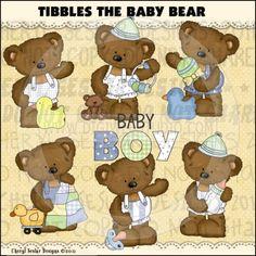 Tibbles The Baby Bear 1 - Clip Art by Cheryl Seslar