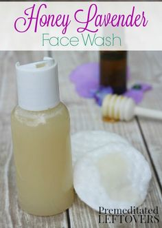 Homemade Honey Lavender Face Wash- This DIY face wash uses honey and other natural ingredients to gently cleanse and moisturize your skin. Give this DIY beauty treatment recipe a try!