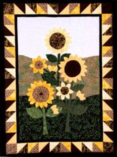 Sunflower Fields Quilt Pattern LSC-0701 (advanced beginner, wall hanging)