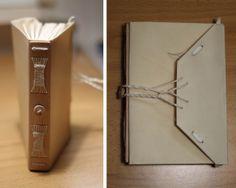 relligat: encuadernación y diseño: Pergamino+madera