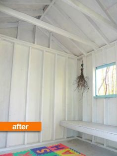 Before & After: A Smelly Garden Shed Turned Bright Playhouse — Perry Moffit
