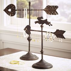 pottery barn weather vanes as jewelry holder