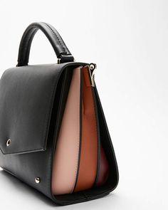 2a222cd601 Express Melie Bianco Rianne Satchel, Black and colorblock handbag - Express  satchel purse