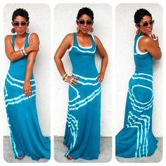 Todays Look: Tie Dye Maxi  www.mimigstyle.com