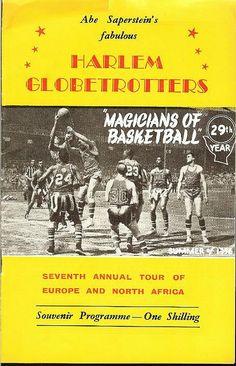 Harlem Globetrotters Europe program [1956]