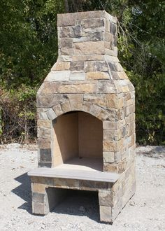 """Stone Age 24"""" Stoned Fire™ prebuilt fireplace - also available in kit form to be built onsite."""