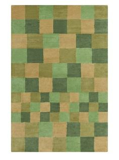 Filament Jessica Hand-Tufted Wool Rug, Green/Brown, 5' x 7' 6""