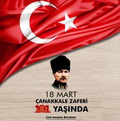 #18Mart Çanakkale zaferinin 101.yılında Mustafa Kemal Atatürk ve tüm şehitlerimizi şükranla ve saygıyla anıyoruz