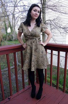 Cheetah Wrap Dress by lladybird, via Flickr