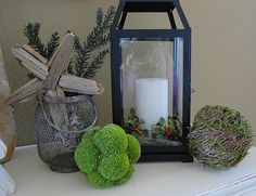 Christmas Decorations (using Pottery Barn Candle holder)