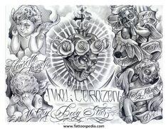 Resultado de imagem para Gangster Tattoo Flash Designs